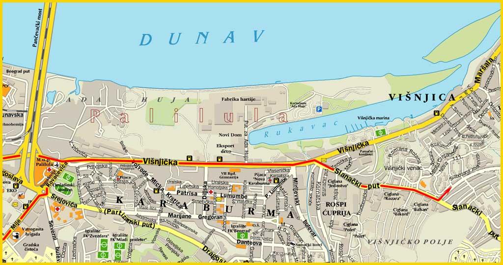 visnjicka banja beograd mapa Mape i Kontakt visnjicka banja beograd mapa